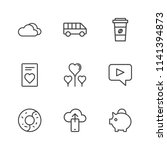 modern simple vector icon set.... | Shutterstock .eps vector #1141394873