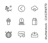 modern simple vector icon set.... | Shutterstock .eps vector #1141396970