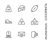 modern simple vector icon set.... | Shutterstock .eps vector #1141398476