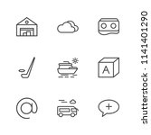 modern simple vector icon set.... | Shutterstock .eps vector #1141401290