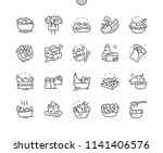 salads well crafted pixel... | Shutterstock .eps vector #1141406576
