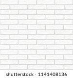 vector white brick wall texture ...   Shutterstock .eps vector #1141408136