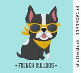 vector icon dog breed french... | Shutterstock .eps vector #1141409153