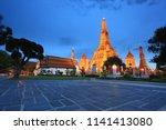 wat arun ratchawararam... | Shutterstock . vector #1141413080