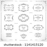 set of flourish frames  borders ... | Shutterstock .eps vector #1141415120