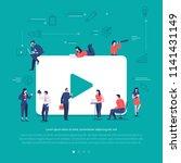 flat design concept group of... | Shutterstock .eps vector #1141431149