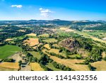 landscape of the massif central ... | Shutterstock . vector #1141432556