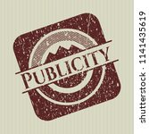 red publicity rubber stamp with ... | Shutterstock .eps vector #1141435619
