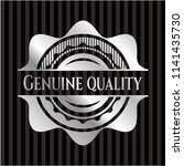 genuine quality silver badge or ... | Shutterstock .eps vector #1141435730