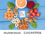 nutritious products containing... | Shutterstock . vector #1141445906