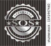 sos silver shiny emblem | Shutterstock .eps vector #1141447460
