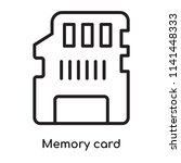 memory card icon vector... | Shutterstock .eps vector #1141448333