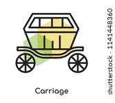 carriage icon vector isolated... | Shutterstock .eps vector #1141448360