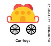 carriage icon vector isolated... | Shutterstock .eps vector #1141448426