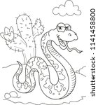 coloring page outline of... | Shutterstock .eps vector #1141458800