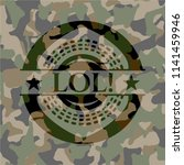 lol  on camo texture | Shutterstock .eps vector #1141459946