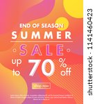 summer sale banner.unique... | Shutterstock .eps vector #1141460423