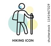 hiking icon vector isolated on... | Shutterstock .eps vector #1141467329