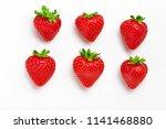 strawberry. fresh natural... | Shutterstock . vector #1141468880