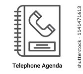 telephone agenda icon vector... | Shutterstock .eps vector #1141471613