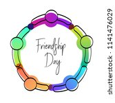 happy friendship day greeting... | Shutterstock .eps vector #1141476029