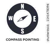 compass pointing south east... | Shutterstock .eps vector #1141478396