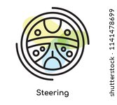 steering icon vector isolated... | Shutterstock .eps vector #1141478699