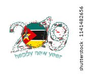 happy new 2019 year with flag... | Shutterstock .eps vector #1141482656