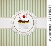 cupcake with chocolate and... | Shutterstock .eps vector #114148354