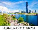 danube city or donaustadt is...   Shutterstock . vector #1141487780