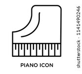 piano icon vector isolated on... | Shutterstock .eps vector #1141490246