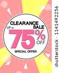 clearance sale  poster design...   Shutterstock .eps vector #1141492256