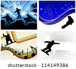 sport background set with... | Shutterstock . vector #114149386