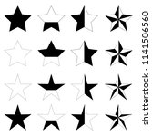 set of star icons vector image | Shutterstock .eps vector #1141506560