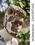grunge mannequin portrait  | Shutterstock . vector #1141507103