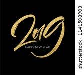 golden glitter paint lettering... | Shutterstock .eps vector #1141508903