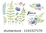vector floral elements for your ... | Shutterstock .eps vector #1141527170