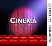 movie cinema premiere poster... | Shutterstock .eps vector #1141536509
