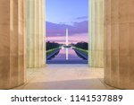 washington monument and... | Shutterstock . vector #1141537889
