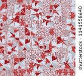a seamless editable abstract... | Shutterstock .eps vector #1141558640