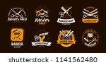 barbershop  set of labels or... | Shutterstock .eps vector #1141562480
