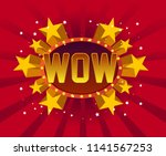 wow beautiful greeting card... | Shutterstock .eps vector #1141567253