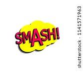 comic speech bubble with... | Shutterstock .eps vector #1141571963
