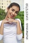 cute pretty teen female | Shutterstock . vector #1141572710
