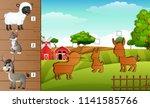 cartoon farm animals collection ...   Shutterstock .eps vector #1141585766