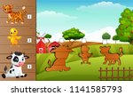 cartoon farm animals collection ...   Shutterstock .eps vector #1141585793