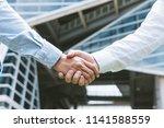 business concept  businessman...   Shutterstock . vector #1141588559
