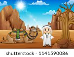 arab boys with camels in the...   Shutterstock .eps vector #1141590086