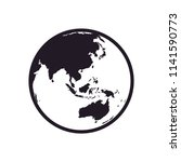 world globe asia icon vector | Shutterstock .eps vector #1141590773