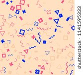 memphis background.  retro...   Shutterstock .eps vector #1141595333